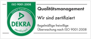Logo DEKRA certified - Qualitymanagement ISO ISO 9001:2008